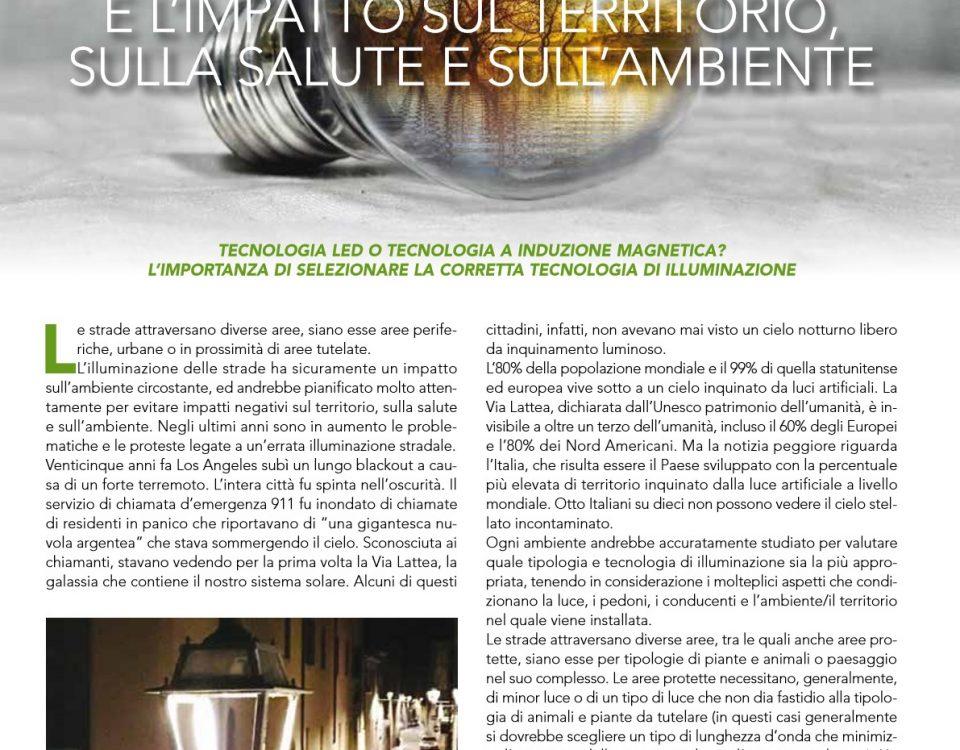 Illuminazione Stradale ed Impatto sul Territorio Salute e Ambiente